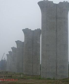 高速铁路双流线墩柱